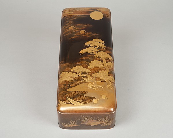 Letter Box (Fubako) with Design of the Shore at Suma