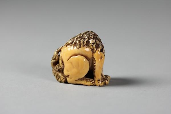 Netsuke of Seated Baku (mythical animal)