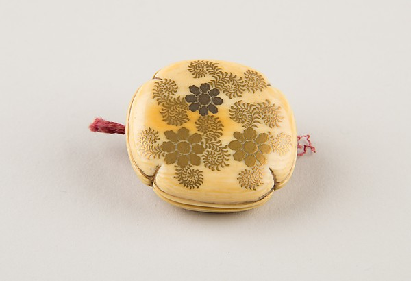 Netsuke with Floral Decoration