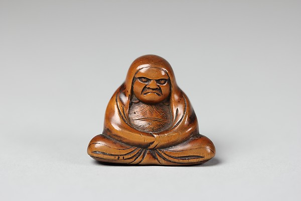 Netsuke of Seated Figure; Daruma