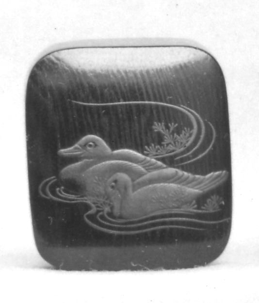 Netsuke of Two Ducks Swimming