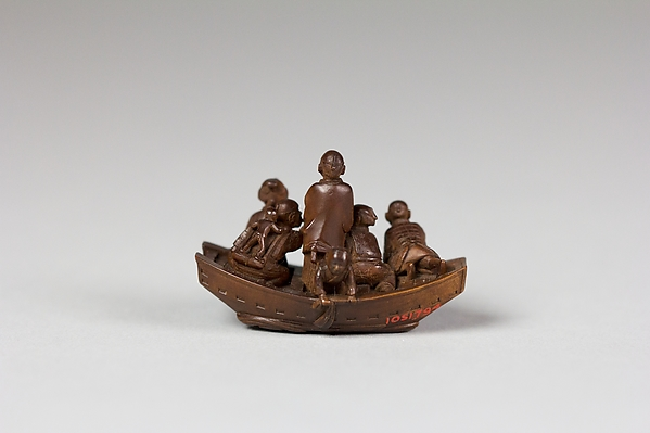 Netsuke of Pleasure Boat