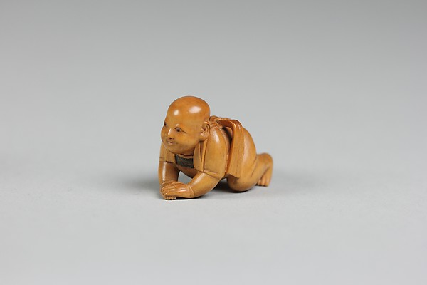 Netsuke of Crawling Child