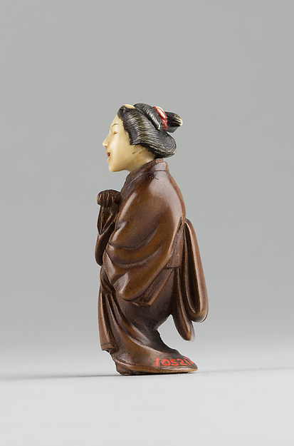 Netsuke of Female Figure