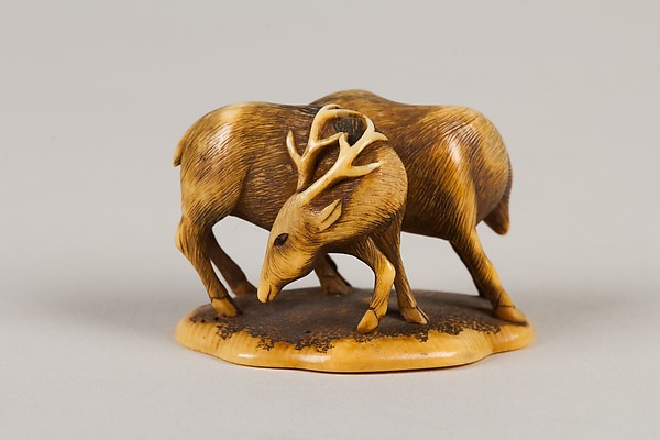 Netsuke of Two Deer