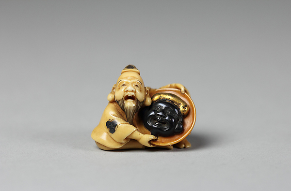 Netsuke of Daikoku with Hotei