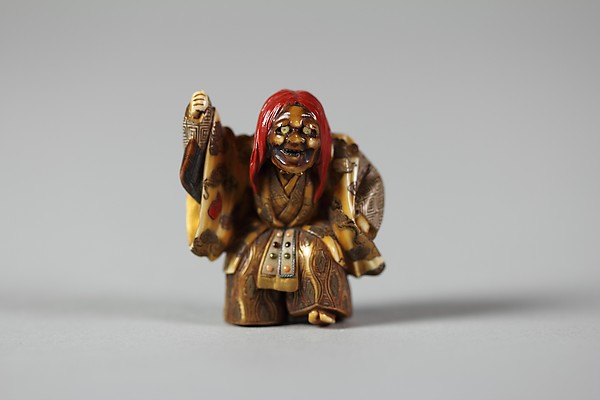 Netsuke of Noh Dancer