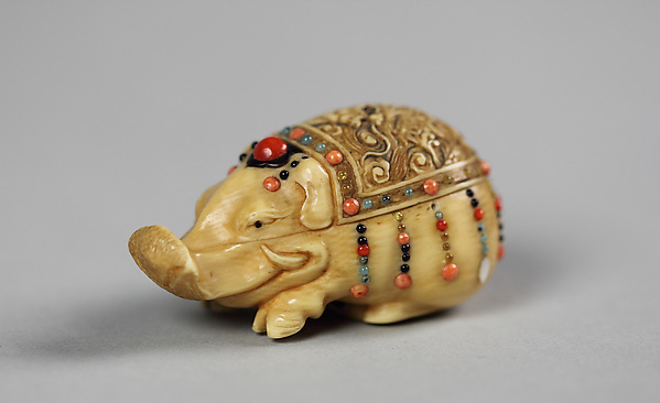 Netsuke of Boar