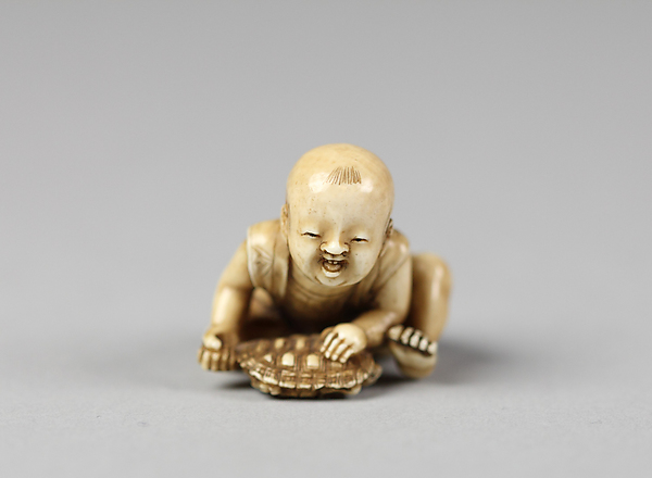 Netsuke of Child with a Turtle
