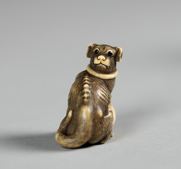Netsuke of Cat with a Ball