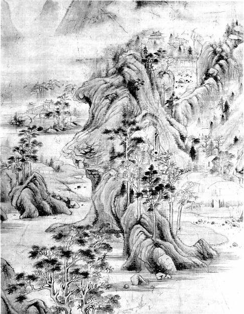 清 山水圖  軸<br/>Landscape