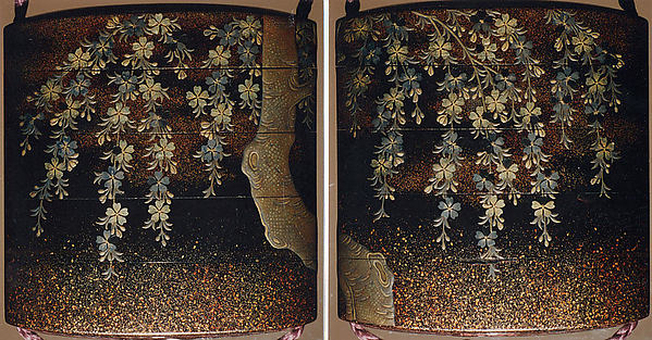 Case (Inrō) with Design of Weeping Cherry Tree