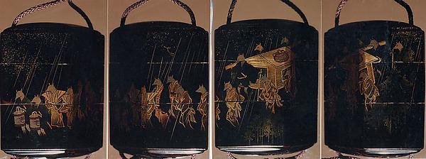 Case (Inrō) with Design of Fox Wedding Procession