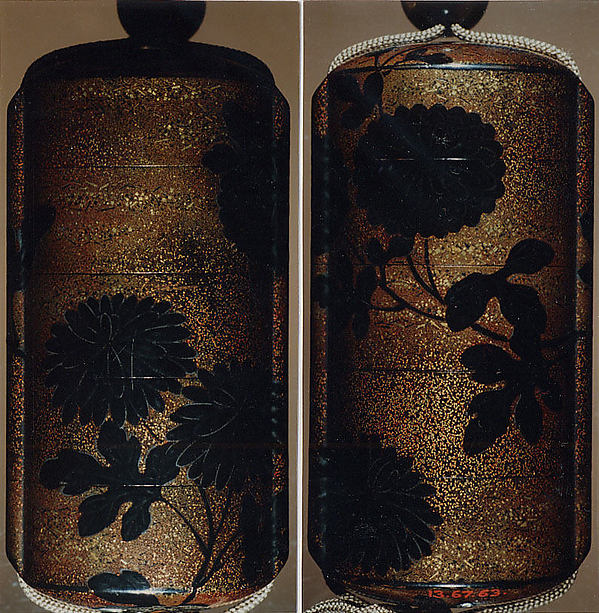 Case (Inrō) with Design of Chrysanthemums