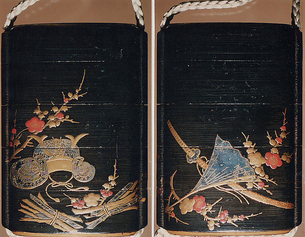 Case (Inrō) with Object from the Noh drama