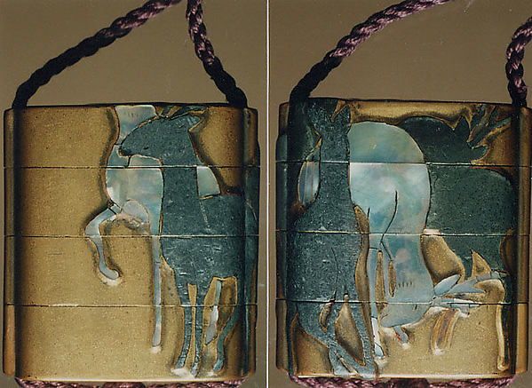 Case (Inrō) with Design of Standing Deer