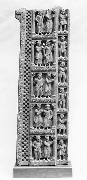 False Gable Border Relief: Worshippers in Princely Costumes