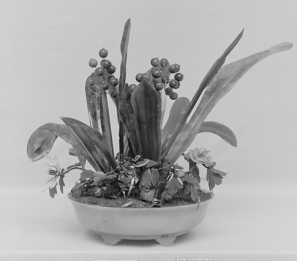 Dish of Artificial Plants
