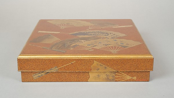 Writing Box (Suzuribako) with Design of Fans