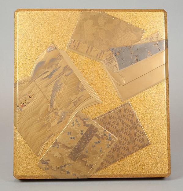 絵本散し蒔絵硯箱<br/>Writing Box with Illustrated Books