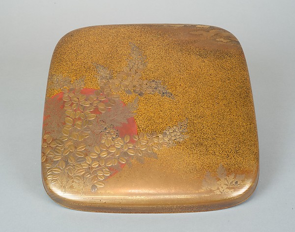 Writing Box with Design of Flowering Bush Clover and Sun