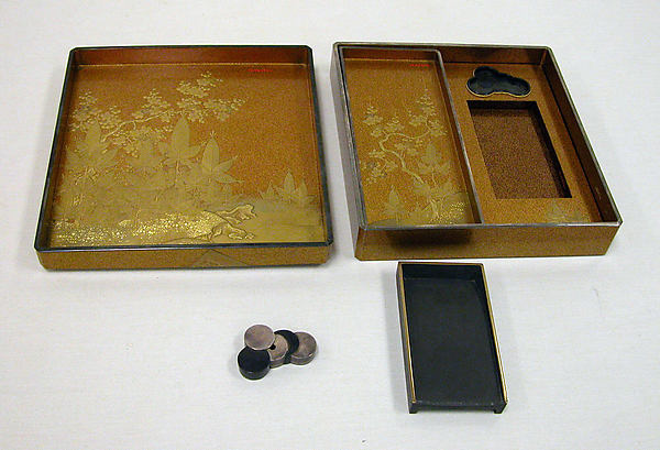 Writing Box (Suzuribako) with Books