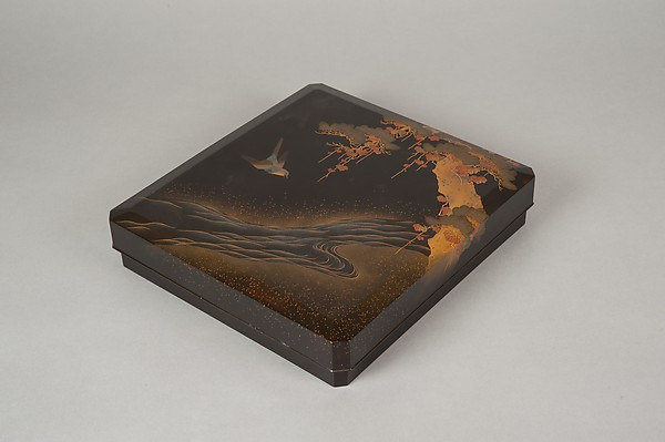 Writing Box with Design of Bird in Flight and a Stream