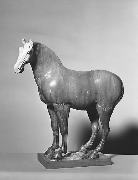 唐 褐釉陶馬<br/>Horse