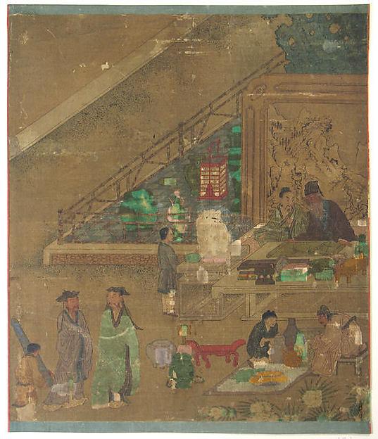 Examining Antiques at Literati Gathering
