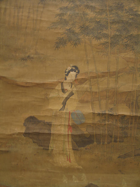 明   沈碩   仿仇英文玉圖   軸<br/>Lady in a Bamboo Grove after Qiu Ying