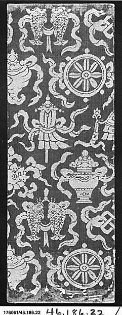 Sutra Cover with Buddhist Symbols