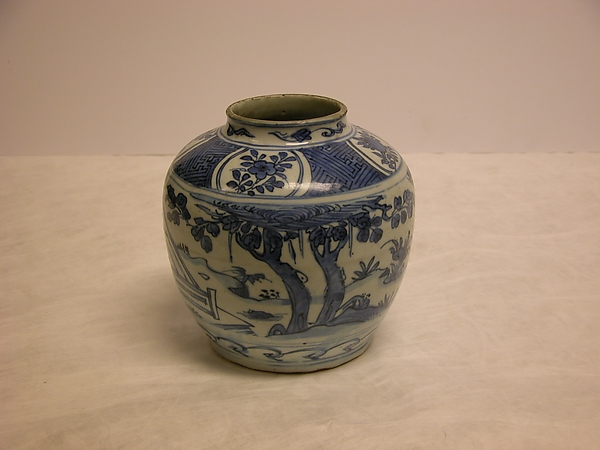 Jar with scene of Wang Xizhi (303–361) watching geese