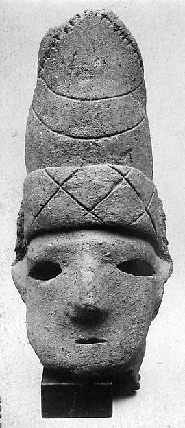 Head of a Male Haniwa Figure with Hat
