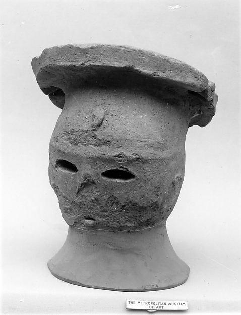 Head of a Female Haniwa Figure with Headdress