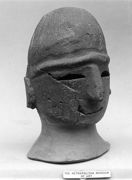 Head of a Male Haniwa Figure