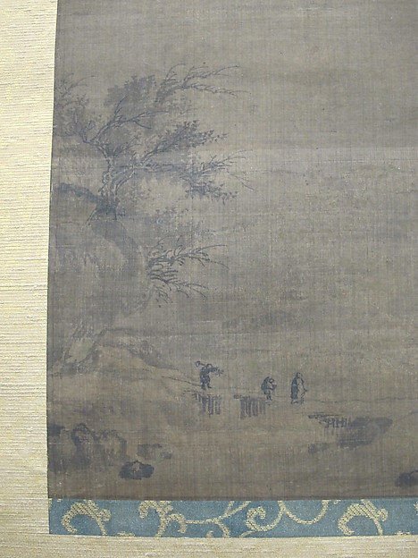 Rainy Landscape with Travelers