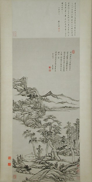 清  王原祁  倣黃公望高克恭山水圖  軸<br/>Landscape in the Styles of Huang Gongwang and Gao Kegong