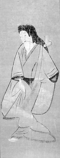 白無垢美人図大津絵<br/>Ōtsu-e of Courtesan in White