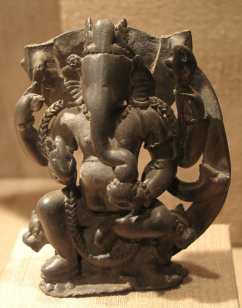 Four-Armed Ganesha Seated on Two Lions