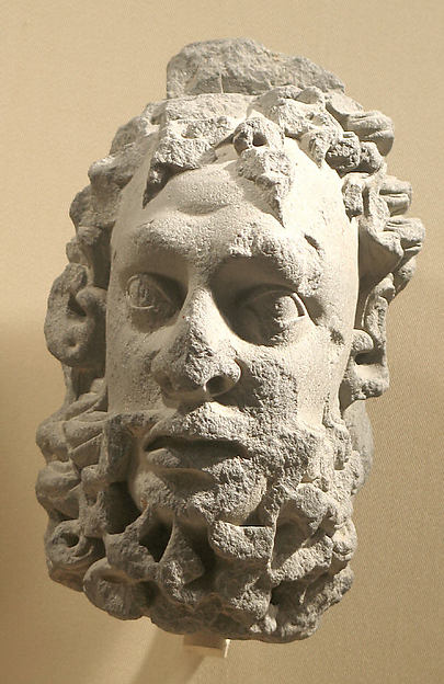 Head of a Bearded Male Figure