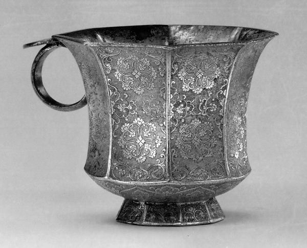 Octagonal Cup with Ring Handle