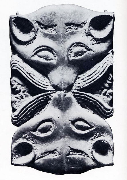 Plaque with Confronted Animal Heads