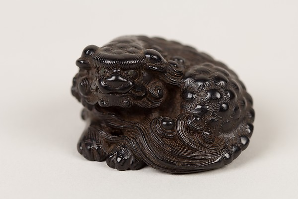 Netsuke of a Seated Shishi