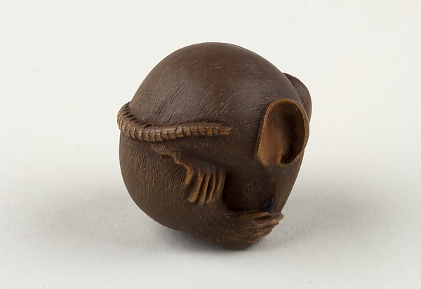 Netsuke of a Rat Curled into a Ball