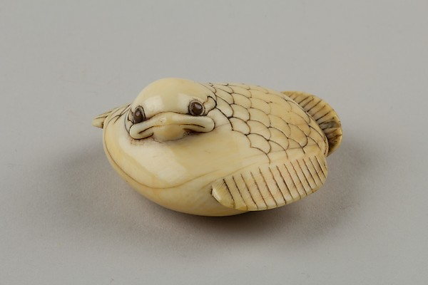 Netsuke of a Plum Sparrow