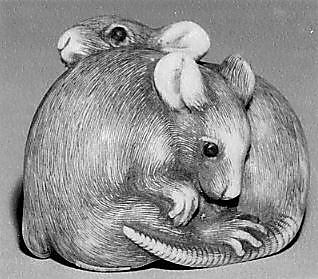 Netsuke of Two Rats