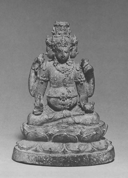Seated Four-Headed and Four-Armed Jambhala(?), the Buddhist God of Wealth