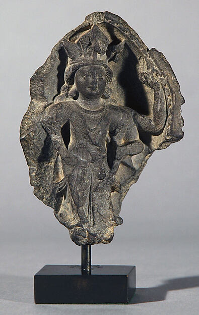 Section of a Diptych in Linga Form, Interior Depicting the Face of Shiva