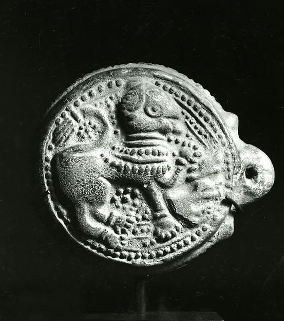 Auspicious Emblem  with Leogryph
