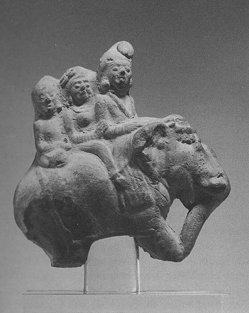 Figures Riding an Elephant